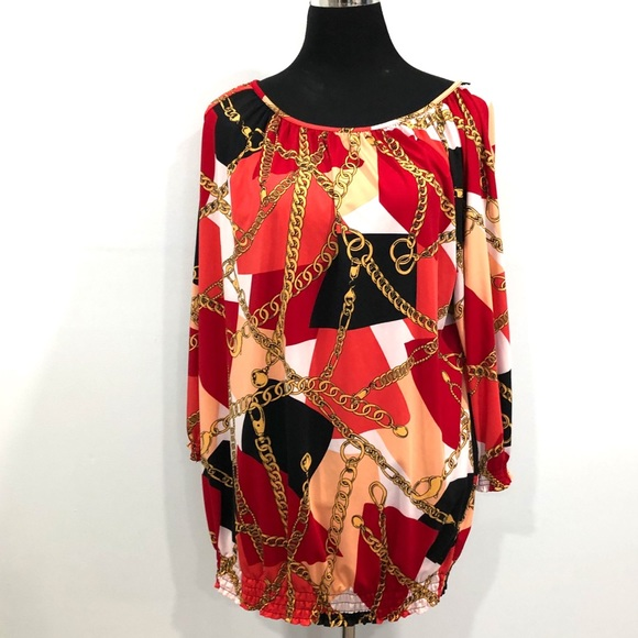 Jessica London chain print tunic